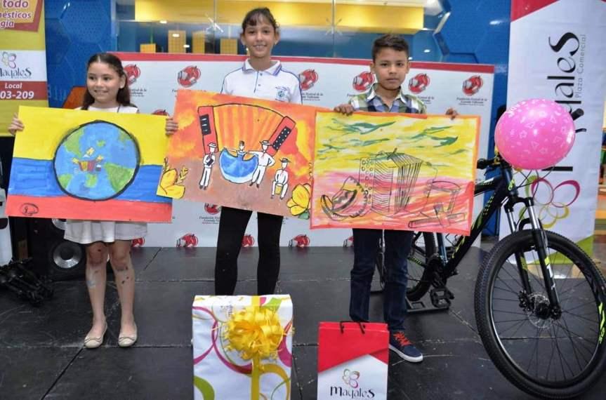 Ganadores del X concurso de pintura infantil del FestivalVallenato