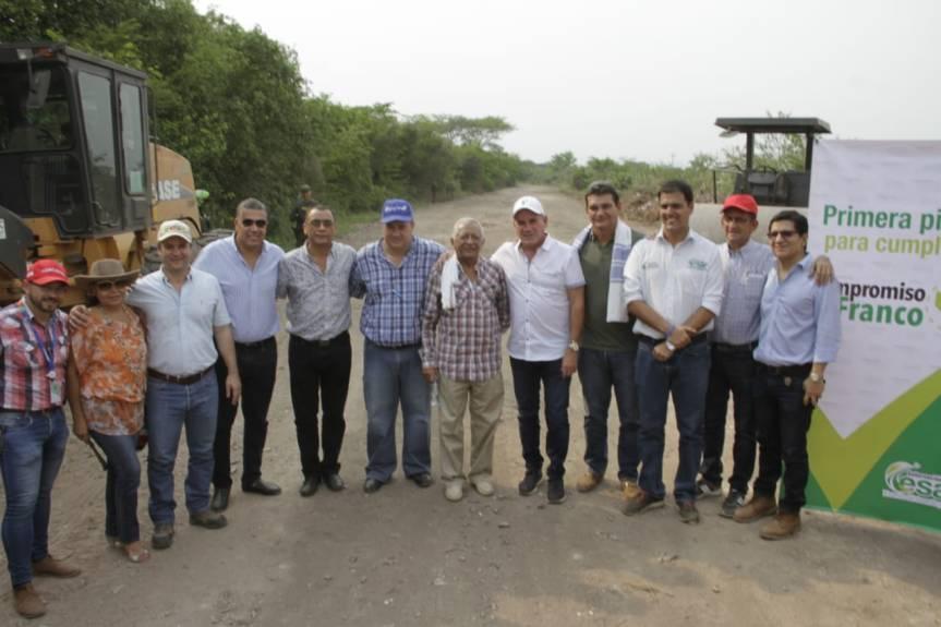 Gobernador Ovalle abrió pavimentación de la vía La Palizá – AguasBlancas