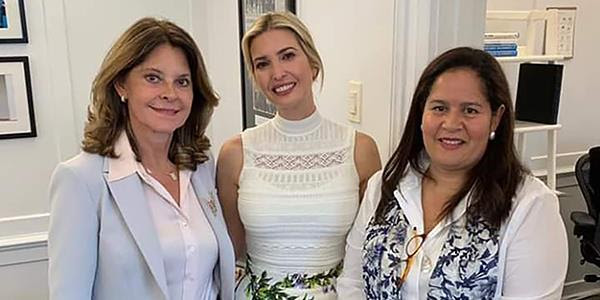 Vicepresidenta dialogó con Ivanka Trump sobre la creación de un Consejo Empresarial de Mujeres de Estados Unidos y deColombia