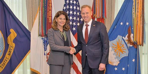 Secretario de Defensa (e) de los EEUU, Patrick M. Shanahan, y Vicepresidenta Marta Lucía Ramírez ratifican lucha contra elnarcotráfico