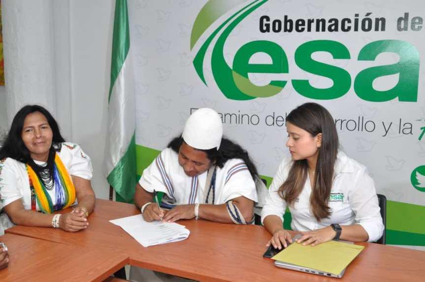 Gobierno Departamental firmó Acuerdo de Voluntades con indígenas para buen uso de recursosnaturales
