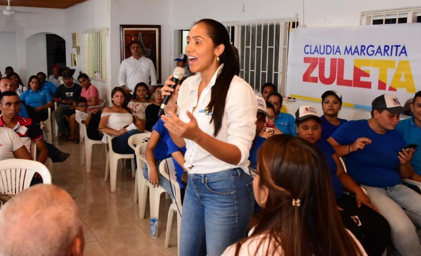 Este viernes Claudia Margarita Zuleta hará presentación oficial de su Plan de Gobierno en San Diego,Cesar