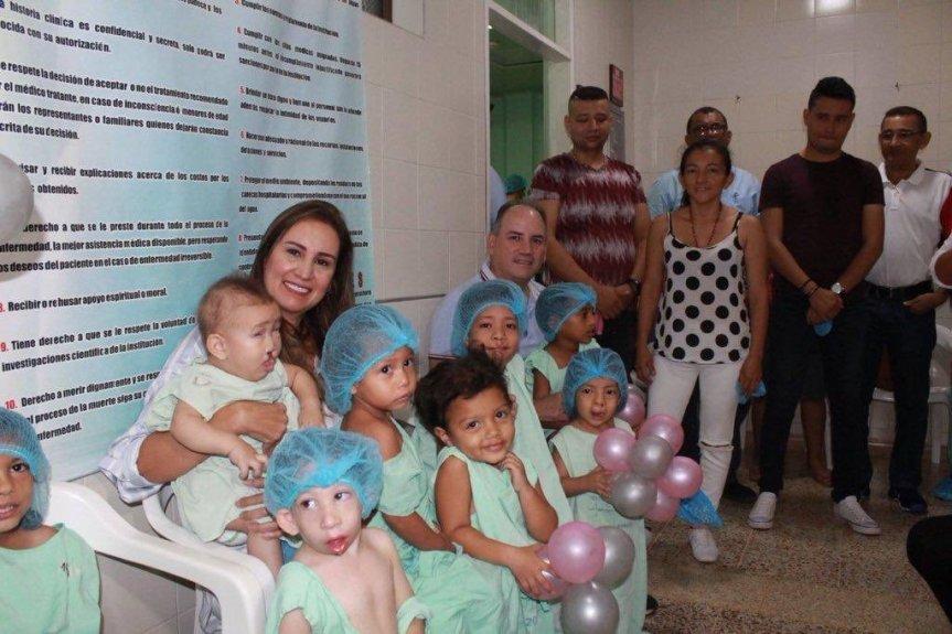 Primera Dama del Cesar y Fundación Operación Sonrisa lanzan ciclos de cirugías paraniños