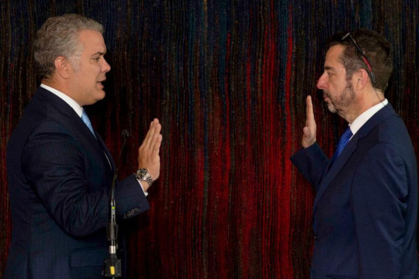 Presidente Duque posesionó a Álvaro García como Gerente de RTVC