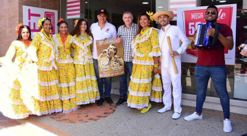 Promoción del Festival Vallenato N° 53 en sectores comerciales deValledupar