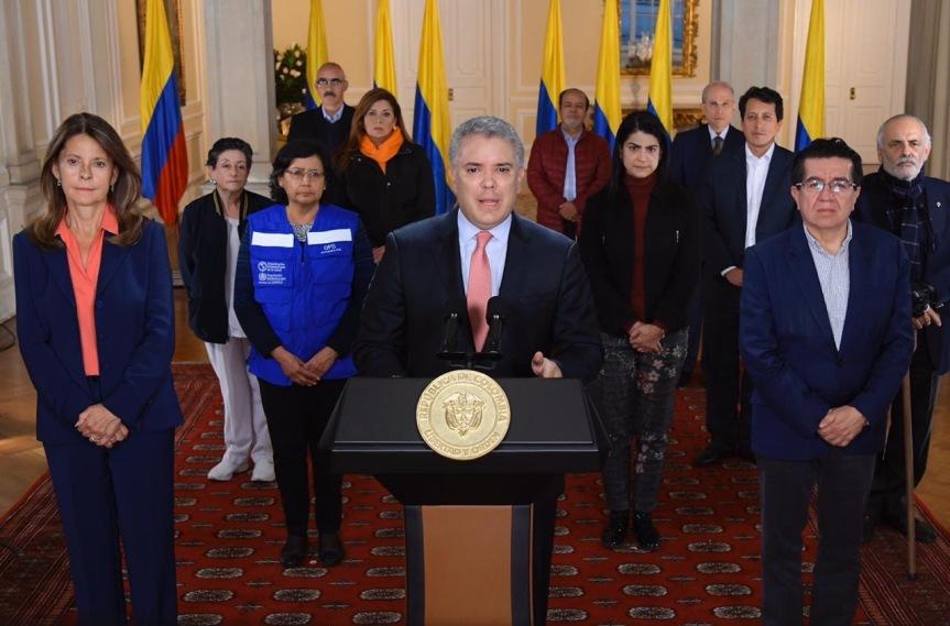 Presidente Duque ordena cuarentena obligatoria enColombia