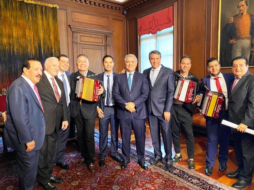 En el Palacio de Nariño sonaron las primeras melodías del 53° Festival de la LeyendaVallenata