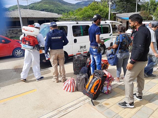 20 venezolanos regresaron a su país desde PuebloBello