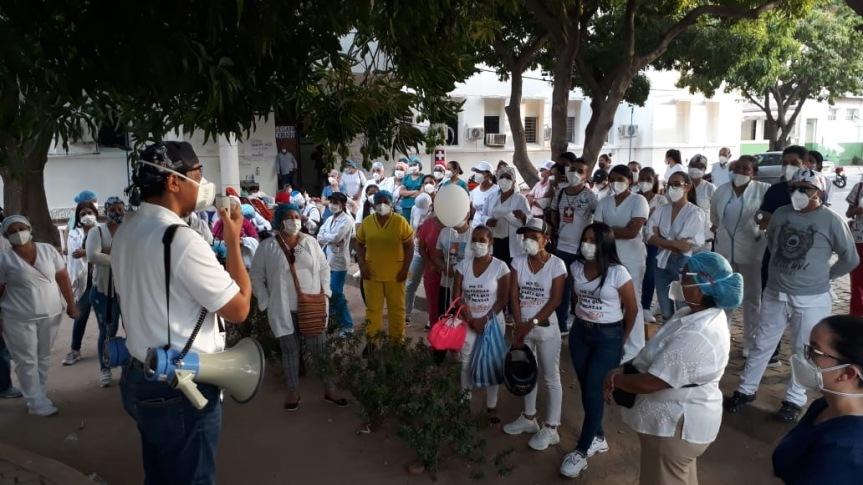 protestas en hospital rosario pumarejo de lopez