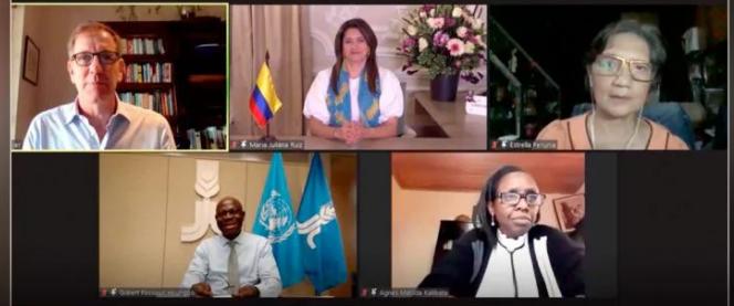 Primera Dama expuso en evento del Foro Económico Mundial las acciones implementadas para mejorar indicadores de nutrición y seguridad alimentaria enColombia