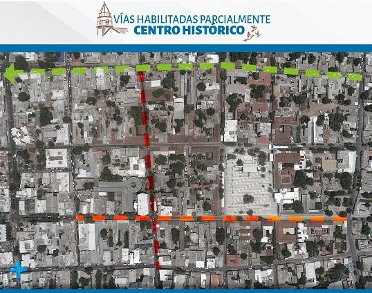Habilitadas vías en el centro histórico deValledupar