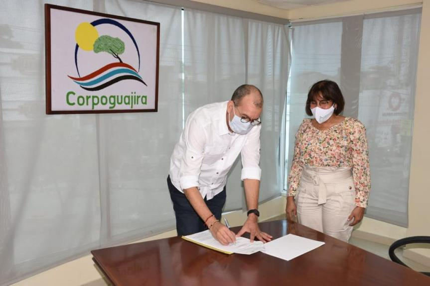 Corpocesar y Corpoguajira firmaron resolución  de comisión conjunta de adopción del  Pomca de los  ríos Chiriaimo yManaure