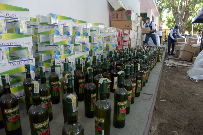 Gobierno del Cesar destruye más de 24 mil unidades de cigarrillos y licores decontrabando