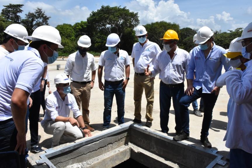 MinVivienda inspecciona obra del Tanque de Almacenamiento de AguaPotable