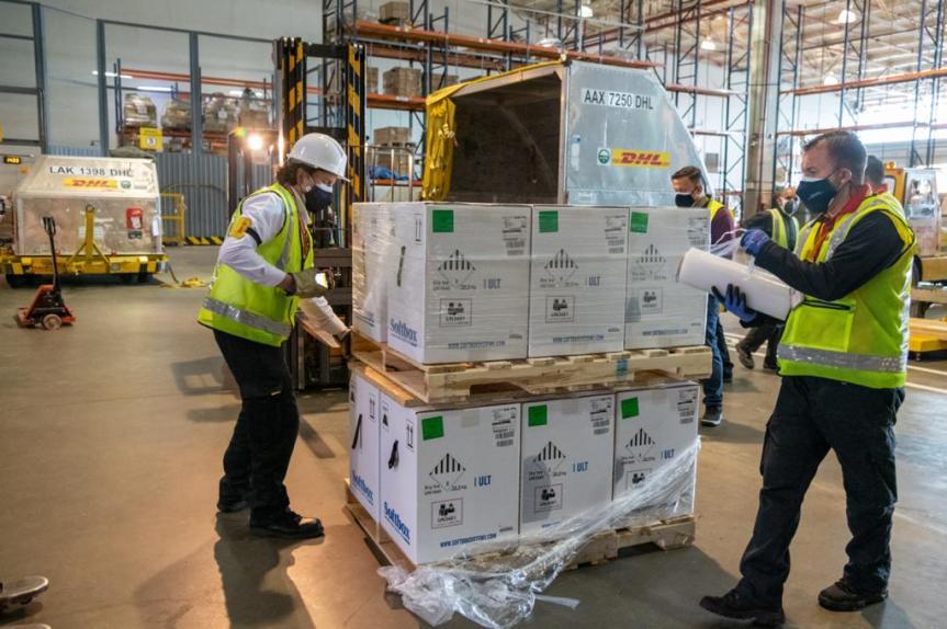 Hoy Colombia recibió 538.200 vacunas dePfizer