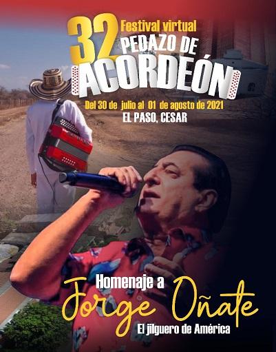 Vuelve el Festival Pedazo de Acordeón en El Paso,Cesar